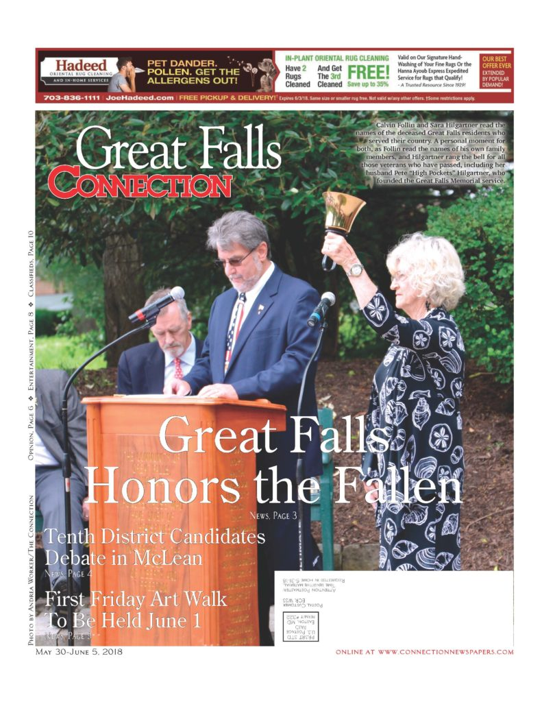 Great Falls Connection cover, May 30, 2018